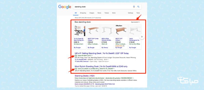 تبلیغات پولی در گوگل